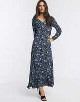 YAS Flower Patterns Casual Style Maxi Long Dresses