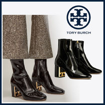 Tory Burch GIGI Casual Style Leather Block Heels Office Style