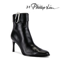 3.1 Phillip Lim Plain Leather Pin Heels Elegant Style Ankle & Booties Boots