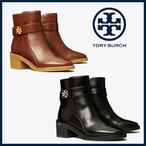 Tory Burch KIRA Casual Style Leather Block Heels Office Style Chunky Heels