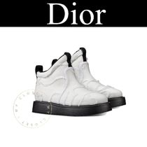 Christian Dior Camouflage Plain Toe Rubber Sole Casual Style