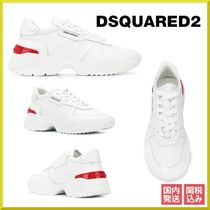 D SQUARED2 Round Toe Rubber Sole Lace-up Casual Style Bi-color Leather