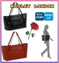 RADLEY Plain Leather Party Style Office Style Elegant Style Totes