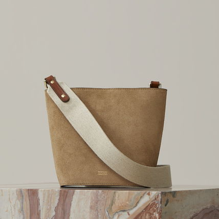 Casual Style Suede Plain Leather Party Style Office Style