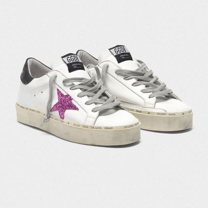 Casual Style Leather Low-Top Sneakers