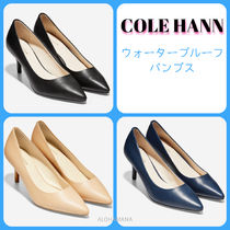 Cole Haan Plain Leather Pin Heels Office Style Stiletto Pumps & Mules