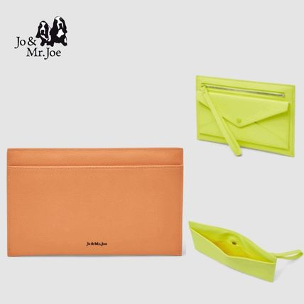 Casual Style Plain Clutches