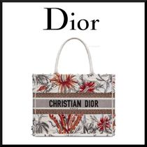 Christian Dior Flower Patterns Casual Style 2WAY Elegant Style Totes