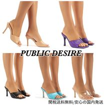 PUBLIC DESIRE Square Toe Casual Style Plain Pin Heels Party Style