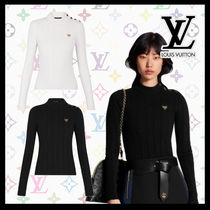 Louis Vuitton Casual Style Cashmere Nylon Blended Fabrics Long Sleeves