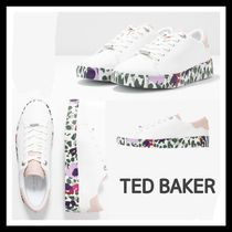 TED BAKER Platform Round Toe Casual Style Faux Fur Plain Leather
