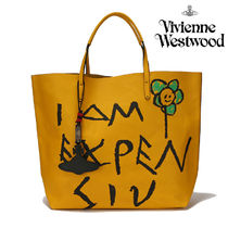 Vivienne Westwood Casual Style Street Style Leather Totes