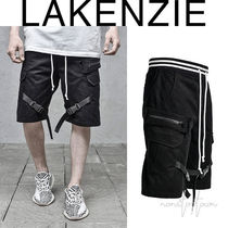 LAKENZIE Street Style Plain Cotton Cargo Shorts