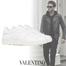 VALENTINO Unisex Studded Street Style Activewear Shoes