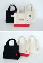 SHOOPEN Unisex Canvas Street Style Collaboration 2WAY Shoulder Bags