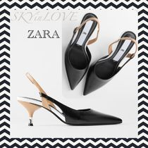 ZARA Casual Style Pin Heels Party Style Elegant Style