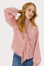 Milly Heart Casual Style Silk Long Sleeves Medium Shirts & Blouses