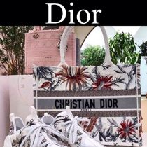 Christian Dior Flower Patterns Casual Style Street Style 2WAY Handmade