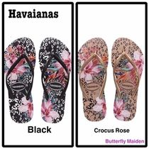 havaianas Flower Patterns Casual Style Other Animal Patterns