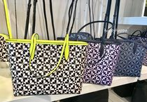 kate spade new york Flower Patterns A4 Leather Totes