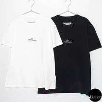 Maison Margiela Crew Neck Plain Cotton Short Sleeves Oversized Logo