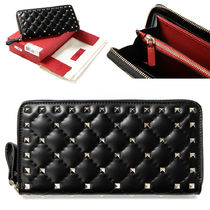 VALENTINO Plain Leather Long Wallet  Long Wallets