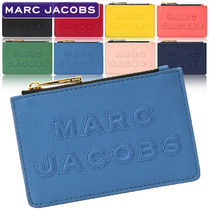 MARC JACOBS Plain Leather Logo Card Holders