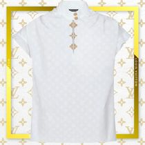 Louis Vuitton Casual Style Puffed Sleeves Plain Cotton Elegant Style