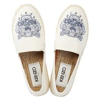 KENZO Round Toe Casual Style Leather Slip-On Shoes