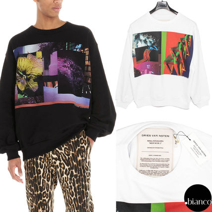 Crew Neck Sweat Collaboration Long Sleeves Cotton Designers