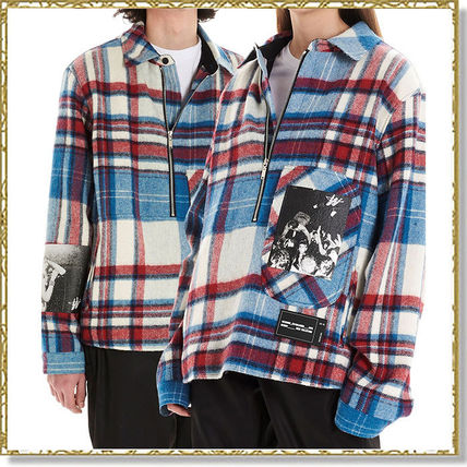 Other Plaid Patterns Unisex Wool Long Sleeves Logo