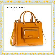 The Bridge Casual Style 2WAY Leather Handmade Office Style Bags