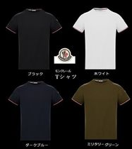 MONCLER Crew Neck Unisex Cotton Short Sleeves Logo