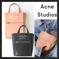 Acne Baker out Casual Style Calfskin Blended Fabrics Plain Totes