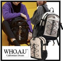 WHO.A.U Casual Style Unisex Street Style Backpacks