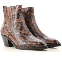 ASH Leather Mid Heel Boots