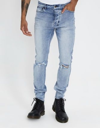KSUBI More Jeans Tapered Pants Denim Street Style Plain Jeans 2