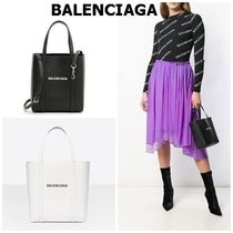 BALENCIAGA EVERYDAY TOTE Casual Style Unisex Calfskin Street Style 2WAY Plain