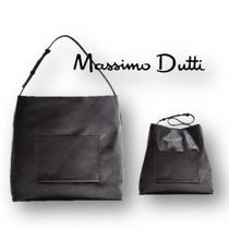 Massimo Dutti Casual Style A4 Plain Office Style Handbags