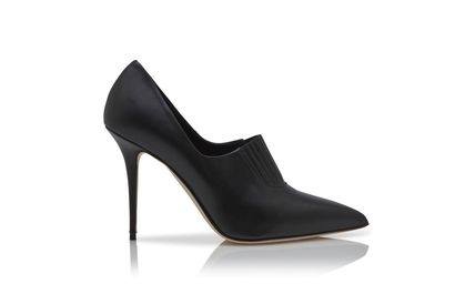 Manolo Blahnik Ankle & Booties Casual Style Street Style Plain Leather Pin Heels 4
