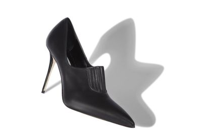 Manolo Blahnik Ankle & Booties Casual Style Street Style Plain Leather Pin Heels 5