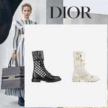 Christian Dior Leather Ankle & Booties Boots