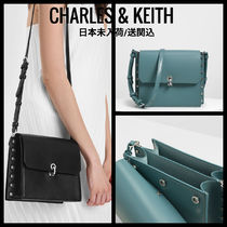 Charles&Keith Faux Fur 2WAY Party Style Elegant Style Handbags