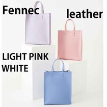 Fennec Casual Style A4 Plain Leather Party Style Office Style