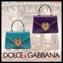 Dolce & Gabbana Heart Calfskin 2WAY Chain Elegant Style Handbags