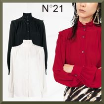 N21 numero ventuno Long Sleeves Plain Medium Fringes Puff Sleeves