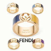 FENDI Casual Style Party Style Office Style Elegant Style Rings