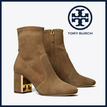 Tory Burch GIGI Casual Style Suede Block Heels Party Style Office Style