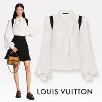 Louis Vuitton Casual Style Silk Puffed Sleeves Long Sleeves Office Style