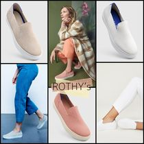 ROTHY'S Round Toe Casual Style Plain Office Style Low-Top Sneakers